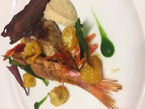 Filetto di triglia con foie-gras di mare